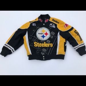 Youth NFL Steelers Patchwork Jacket all emborided